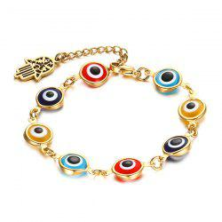 Color Eye Hamsa Hand Bracelet