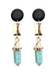 Bohemia Geometric Faux Turquoise Dangle Earrings