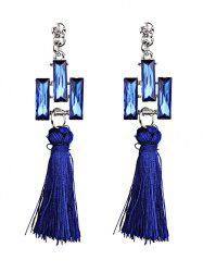 Faux Crystal Tassel Dangle Earrings -