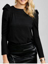 Chiffon Long Sleeve Tee -
