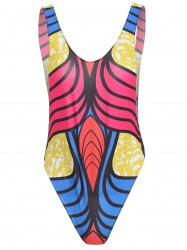 Open Back Print One Piece Tank Swimsuit