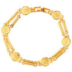 Gold Plated Dollar Sign Bracelet