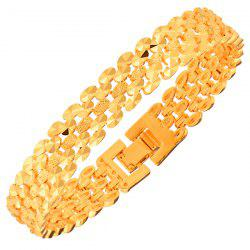 Gold Plated Disk Hollow Out Bracelet
