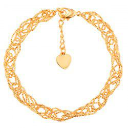 Gold Plated Hollow Out Filigree Bracelet -
