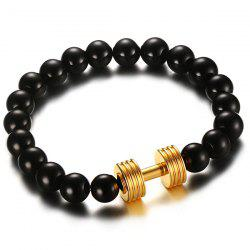 Barbell Beaded Bracelet - GOLDEN