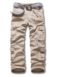 Plus Size Zipper Fly Multi Pockets Design Cargo Pants