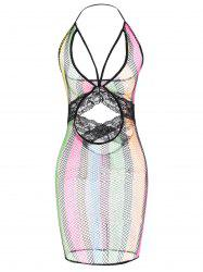 Iridescence Cut Out Babydolls - COLORMIX