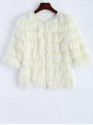 Fringed Faux Fur Cropped Jacket -