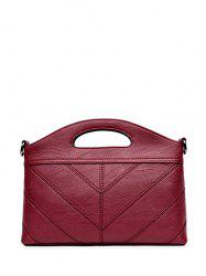 Concise PU Leather Stitching Handbag -
