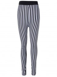 Striped Print Skinny Pants