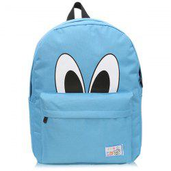 Nylon Eyes Print Backpack