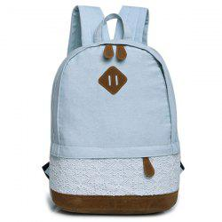 Lace Insert Denim Backpack