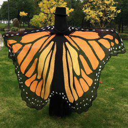 Butterfly Wing Cape Scarf - EARTHY