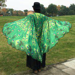 Peacock Feather Wing Cape Scarf