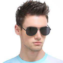 Cross Bar Metal Black Lens Pilot Sunglasses