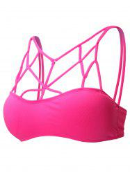 Full Coverage Strappy Cut Out Sports Bra - TUTTI FRUTTI