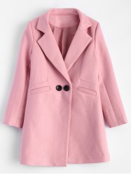 Lapel Candy Color Wool Blend Coat -