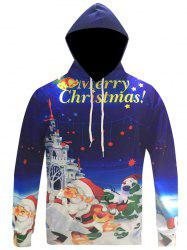 3D Print Kangaroo Pocket Christmas Patterned Hoodies -
