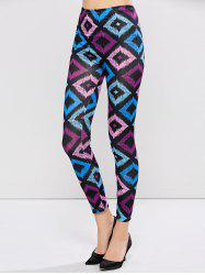Patterned Ninth Length Leggings - COLORMIX