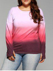 Long Sleeve Gradient Color Tee
