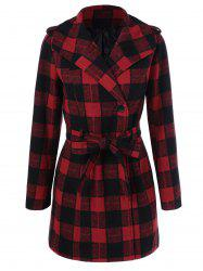 One Button Design Plaid Coat -