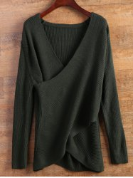 Wrap Ribbed Layered Sweater