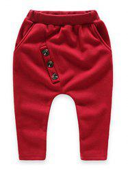 Buttoned Kids Fleece Sweatpants -