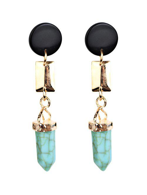 Outfits Bohemia Geometric Faux Turquoise Dangle Earrings