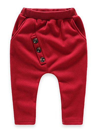 Trendy Buttoned Kids Fleece Sweatpants