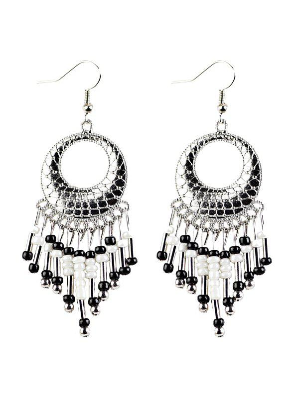 Shops Beads Tassel Snakeskin Round Drop Earrings