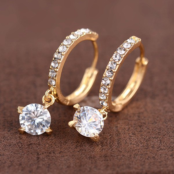 Affordable Rhinestone Round Earrings