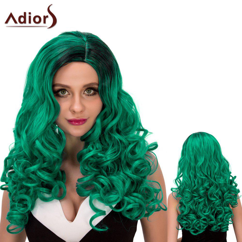 New Adiors Long Fluffy Wavy Oblique Parting Cosplay Synthetic Wig
