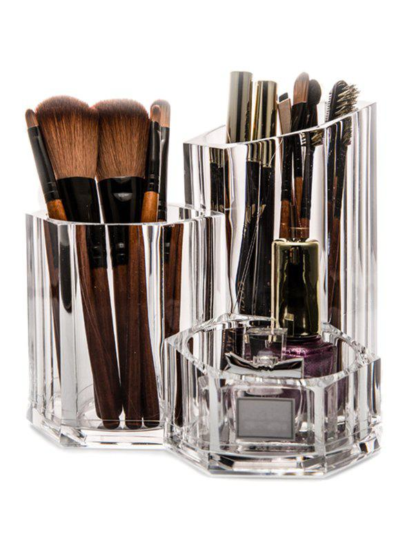 Acrylic Brush Holder Makeup OrganizerBEAUTY<br><br>Color: TRANSPARENT; Material: Acrylic;