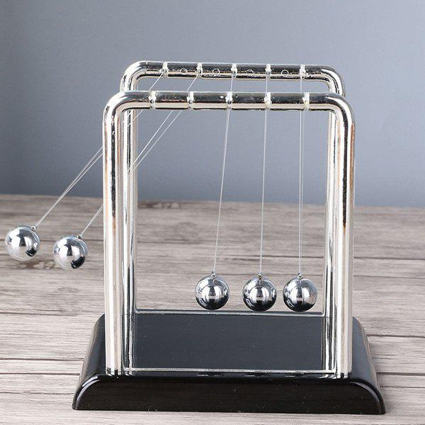 Metal Balance Perpetual Wiggler Newton Cradle Pendulum BallHOME<br><br>Size: S; Color: SILVER; Style: Modern/Contemporary; Categories: Gadgets; Material: Metal,Plastic; Size(CM): 18.3*15.1*18.5; Weight: 0.420kg; Package Contents: 1 x Pendulum Ball;