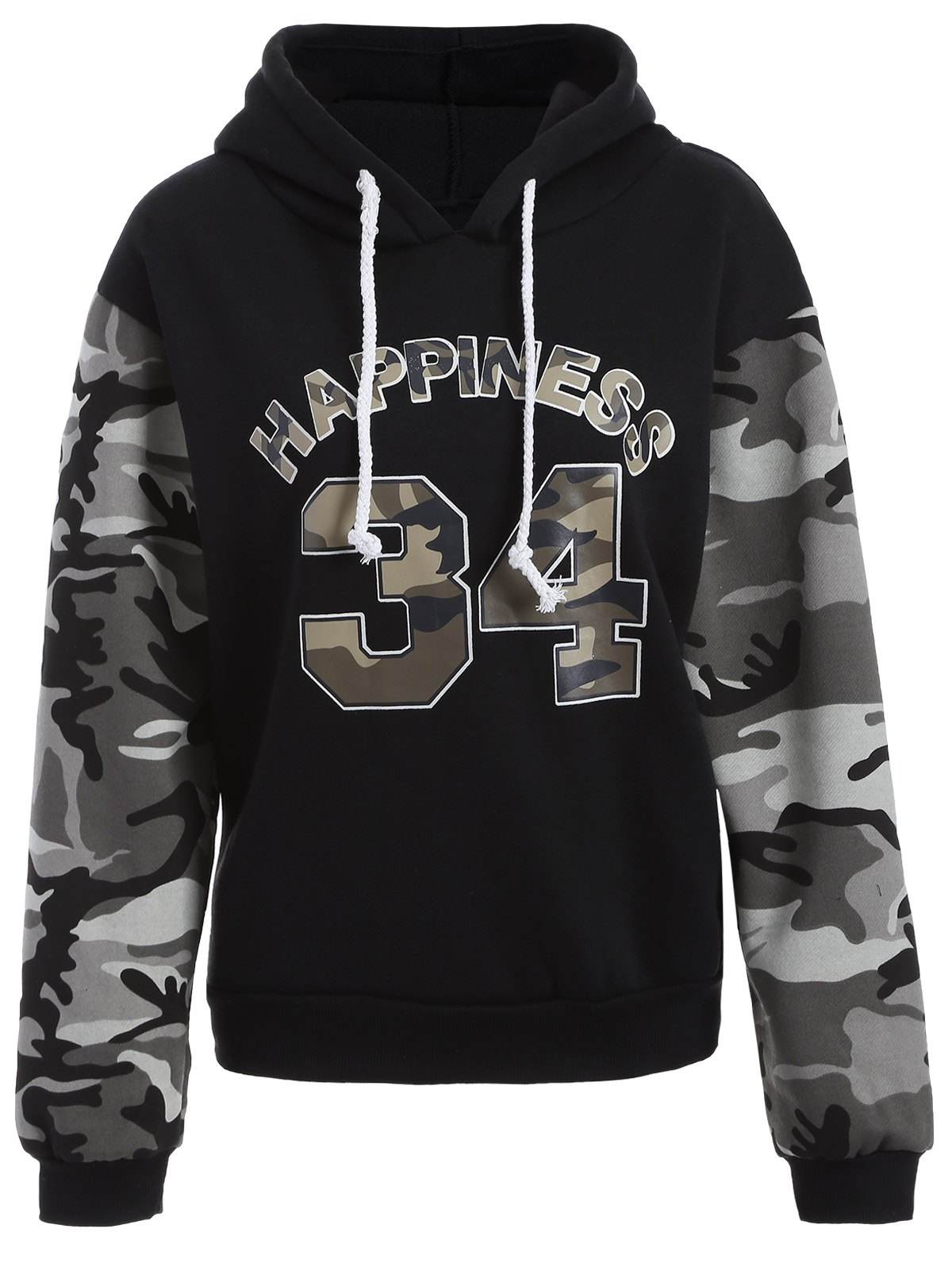 Shop Letter Graphic Camo Hoodie