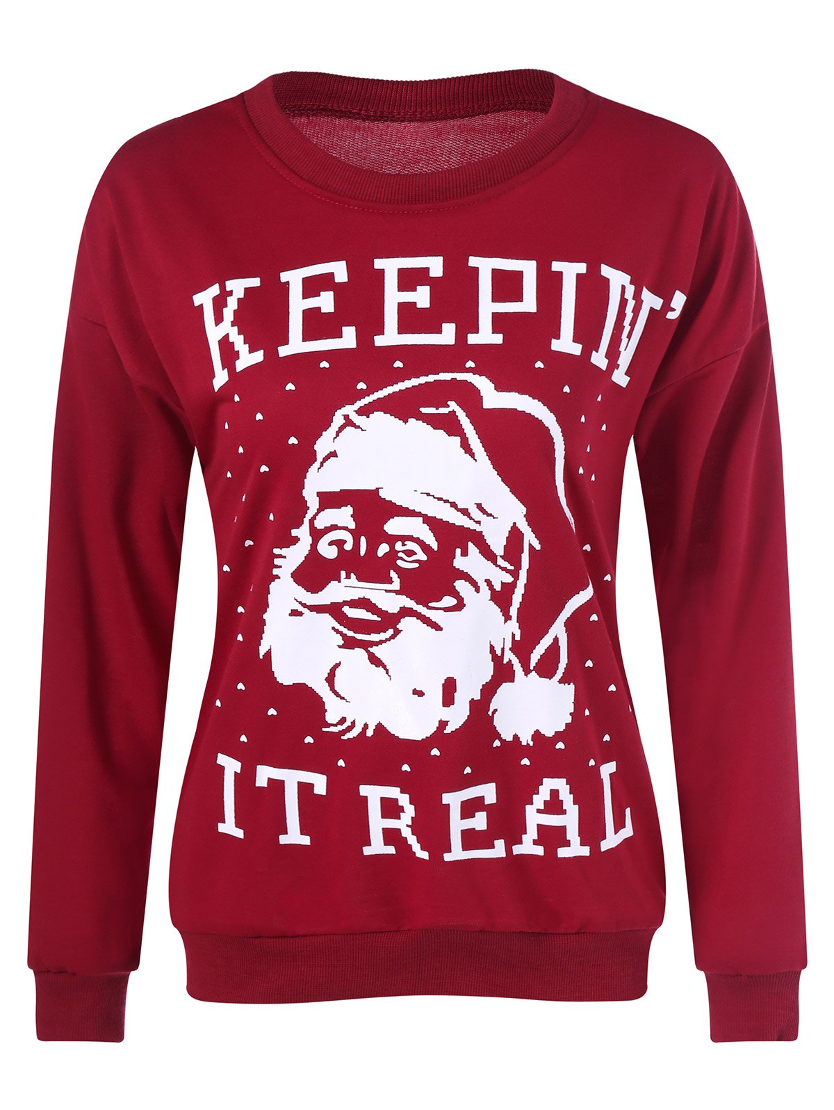 Outfit Christmas Santa Claus Patterned Sweatshirt