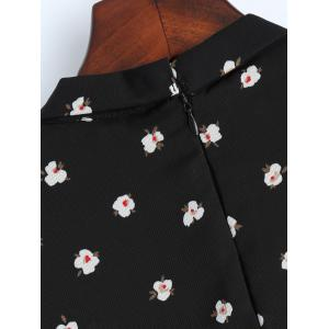Long Sleeve Floral Chiffon Bowknot Shirt -
