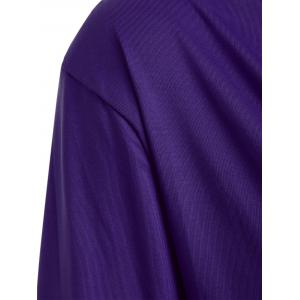 Open Back T-Shirt and Tube Top - PURPLE L