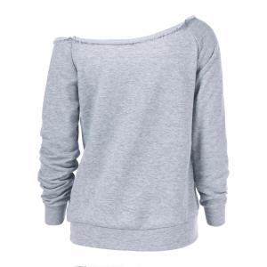 Kangaroo Pocket Skew Collar Sweatshirt drôle -