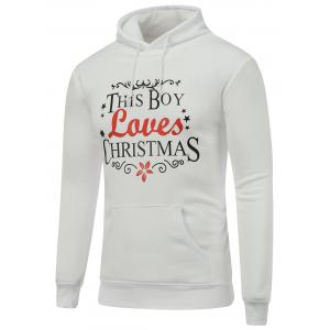 Long Sleeve Christmas Graphic Hoodie