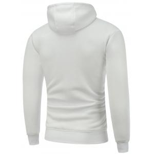 Hooded Long Sleeve Christmas Graphic Hoodie - WHITE M