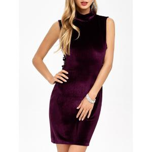 Velvet Criss Cross Zip Short Party Formal Dress