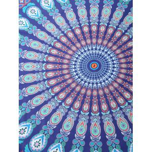 Tribal Totem Printed Round Beach Throw -