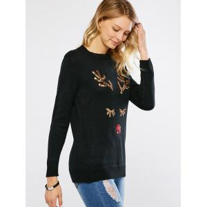 Sequined Pullover Sweater -