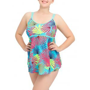 Cami Tropical Print Plus Size Tankini Set