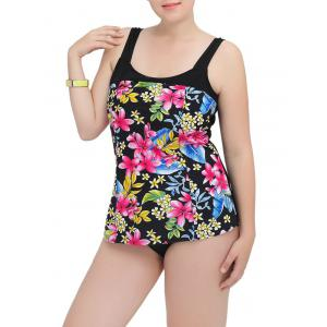 Floral Square Neck One-Piece Swimwear