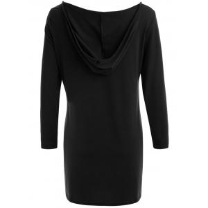 Long Sleeve Hooded Front Lace Up T-Shirt -