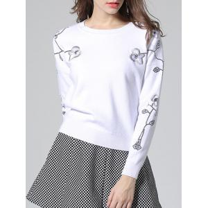 Floral Embroidery Sweater -