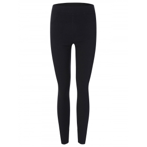 High Waist Elastic Skinny Leg Ninth Pants