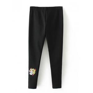 Plus Size Embroidered Skinny Pants